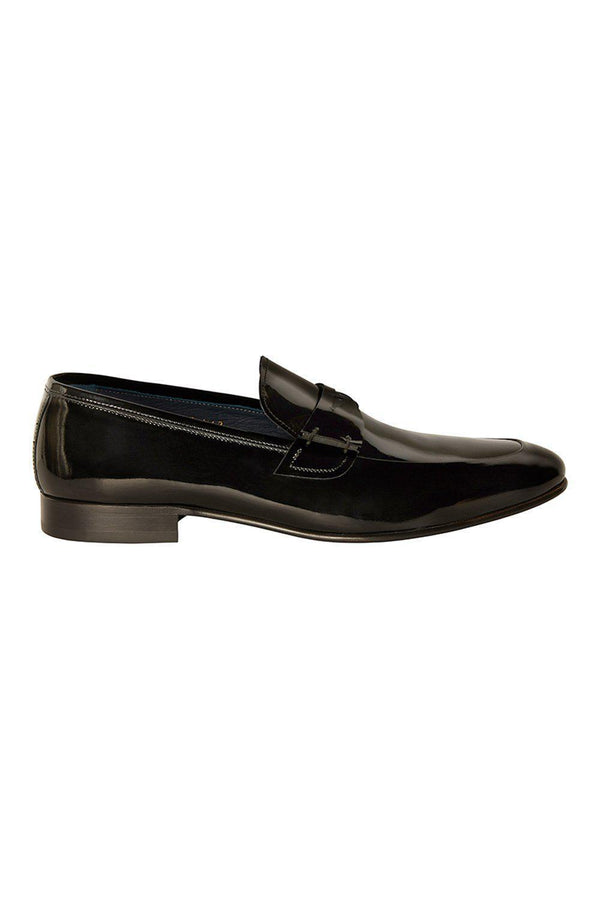 Tuxedo Patent Loafer - BLACK - Ron Tomson