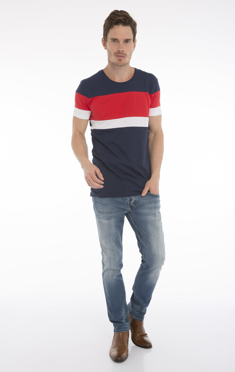 UNOBTAINABLE T-SHIRT - NAVY RED - Ron Tomson