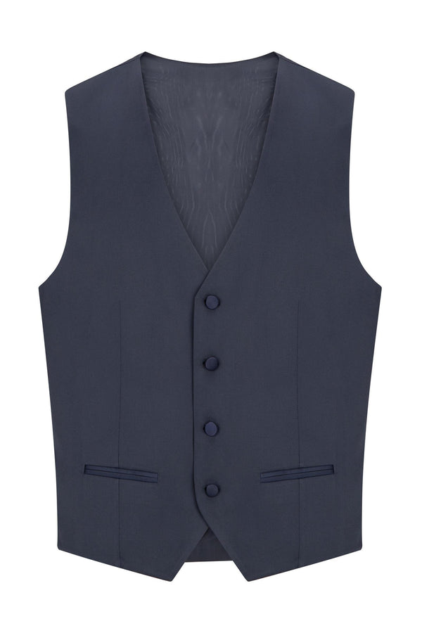 V SHAPED VEST - NAVY - Ron Tomson