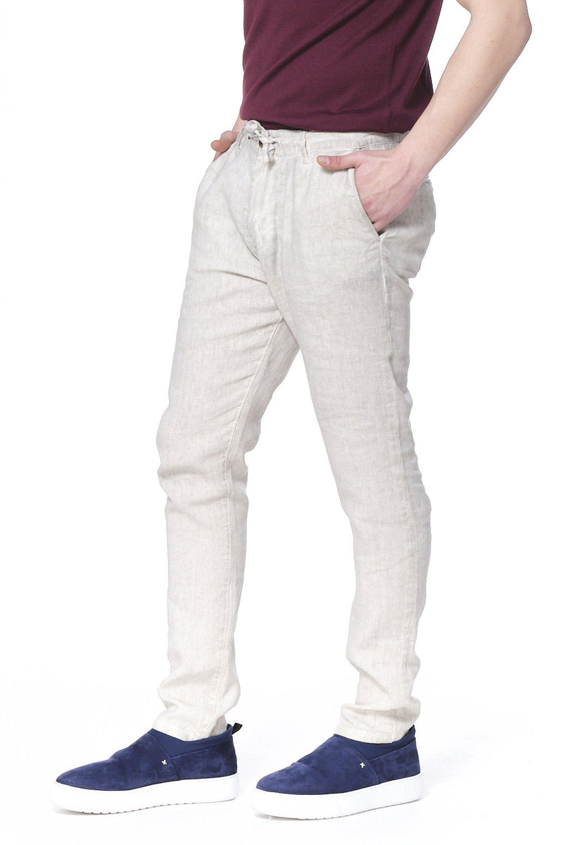 Weekend Leisure Linen Pants - Sand - Ron Tomson ?id=14926306050133