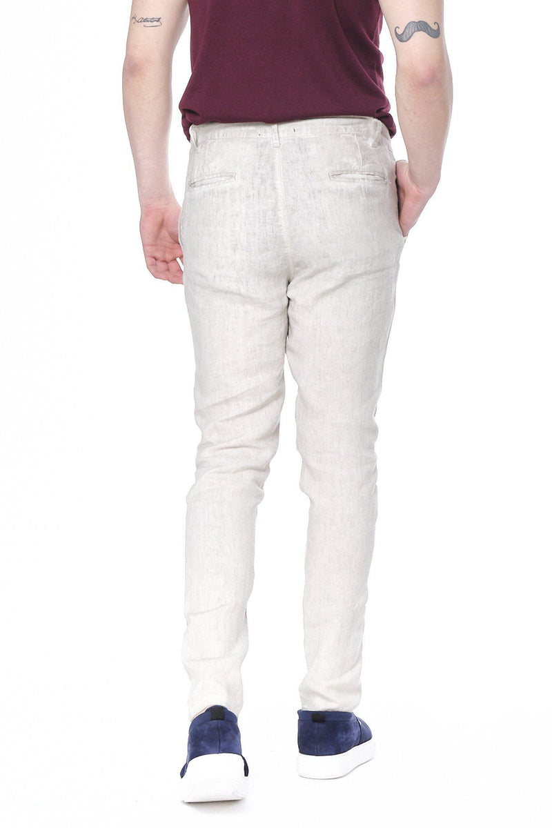 Weekend Leisure Linen Pants - Sand - Ron Tomson ?id=14926306377813
