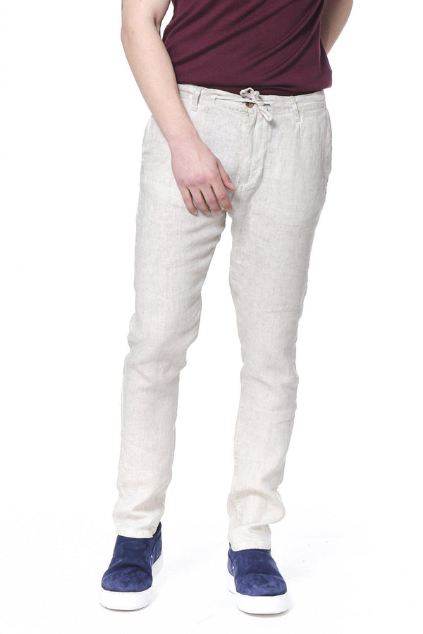 Weekend Leisure Linen Pants - Sand - Ron Tomson
