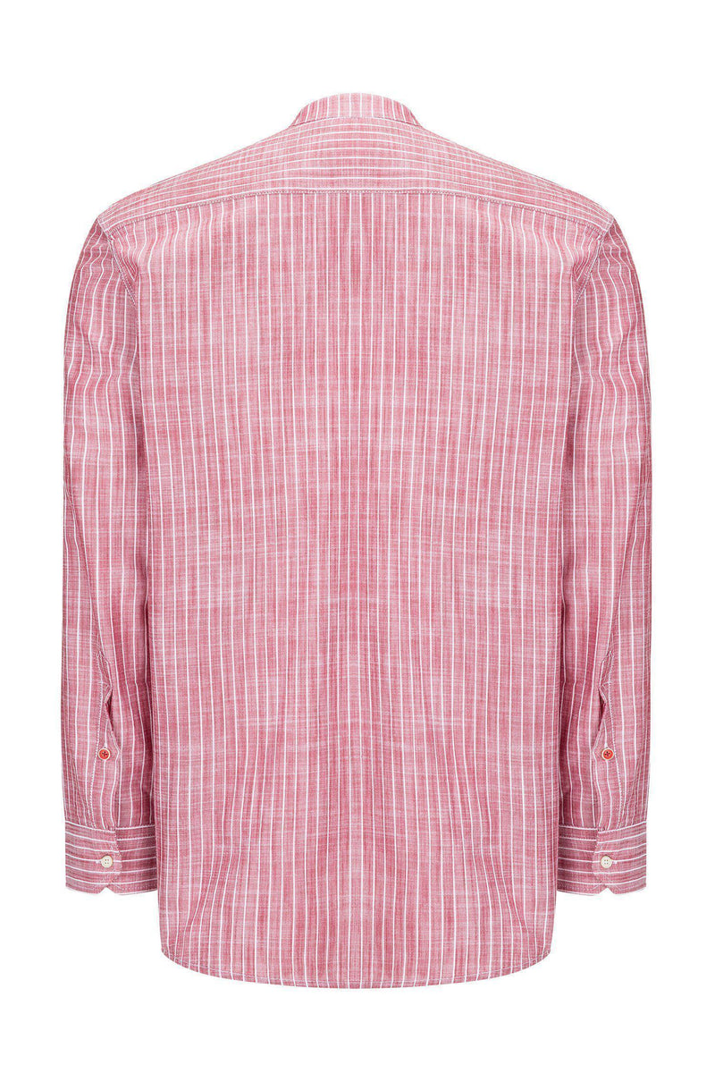 Western Striped Cotton Shirt - RED - Ron Tomson ?id=14469011144789