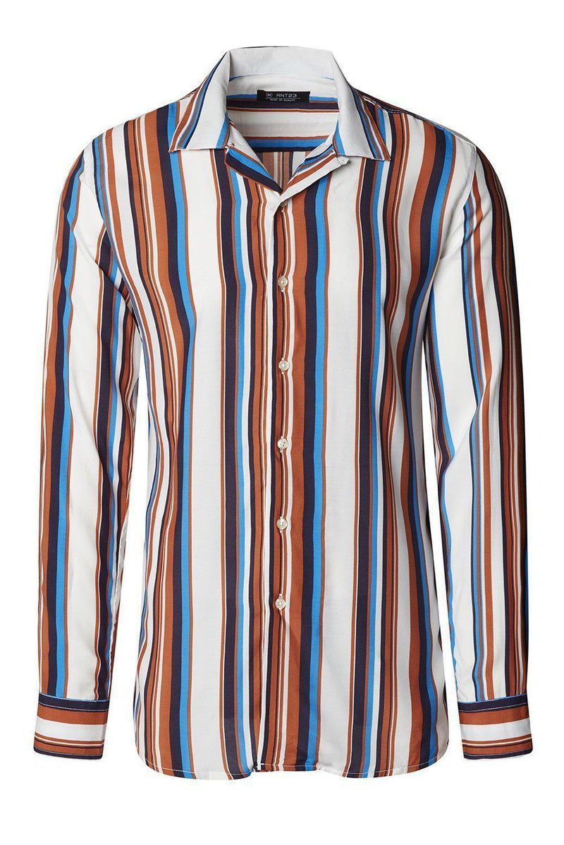 White Striped Shirt - Ron Tomson