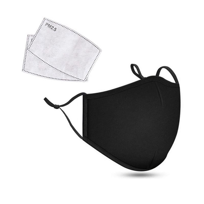 PM2.5 Anti Dust Mask Activated Carbon Filter Masks Windproof Mouth-muffle Proof Flu Face Masks With Filters