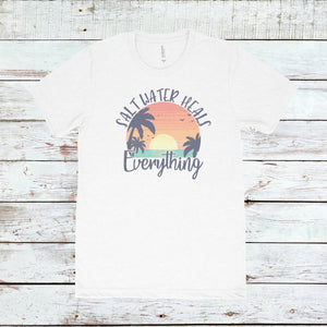 Salt Water Heals Everything Retro Tee