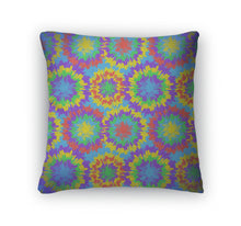 Load image into Gallery viewer, Throw Pillow, Hippie Pattern With Bright Drops