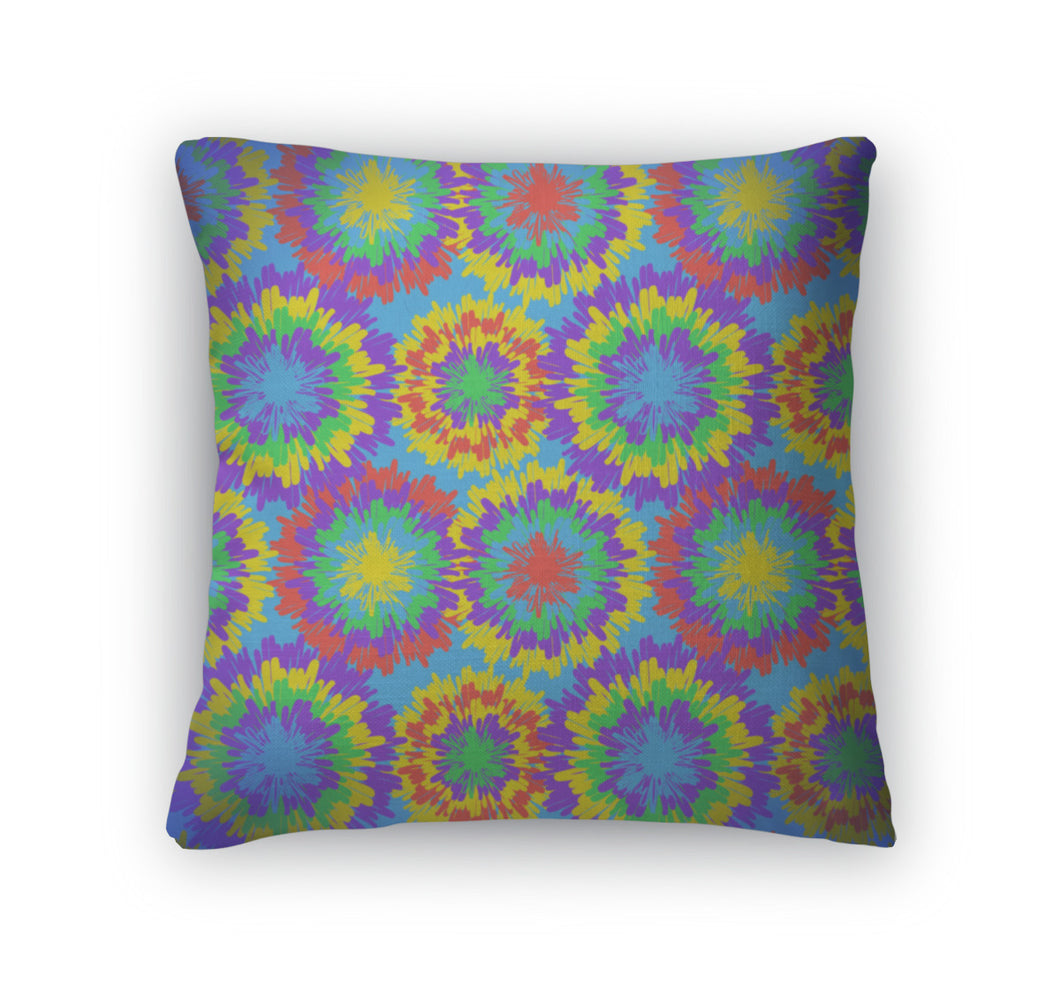 Throw Pillow, Hippie Pattern With Bright Drops