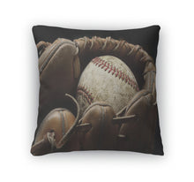 Load image into Gallery viewer, Throw Pillow, Baseball And Mitt Or Glove