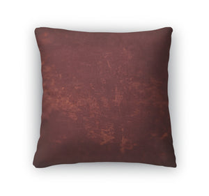 Throw Pillow, Dark Brown Leather