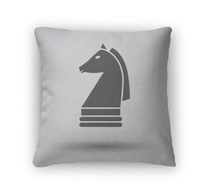 Throw Pillow, Chess Horse Icon