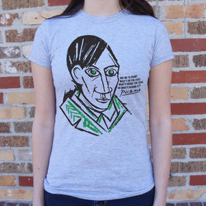 Pablo Picasso Quote T-Shirt (Ladies)