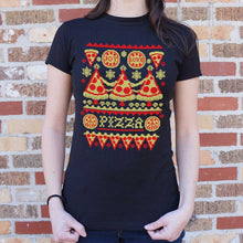 Load image into Gallery viewer, Ugly Pizza Sweater T-Shirt (Ladies)
