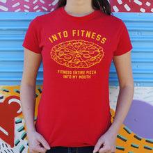 Load image into Gallery viewer, Into Fitness, Fitness Entire Pizza Into My Mouth T-Shirt (Ladies)