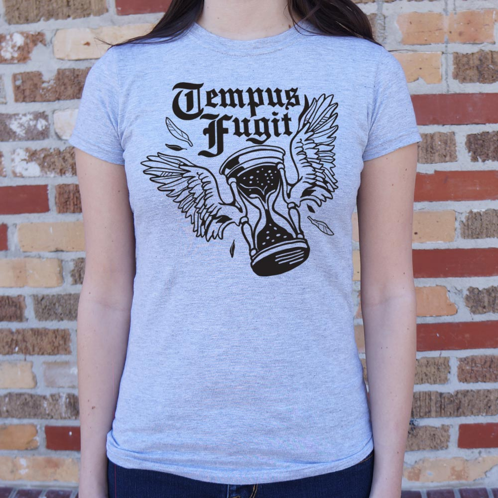 Time Flies Tempus Fugit T-Shirt (Ladies)