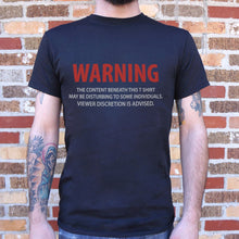 Load image into Gallery viewer, Viewer Discretion T-Shirt (Mens)