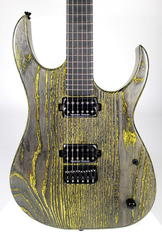 S7G Cobra 6 String Guitar: Yellow Grain Fill
