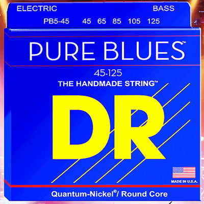 DR Pure Blues Quantum Nickel Alloy/Round Core Bass Strings