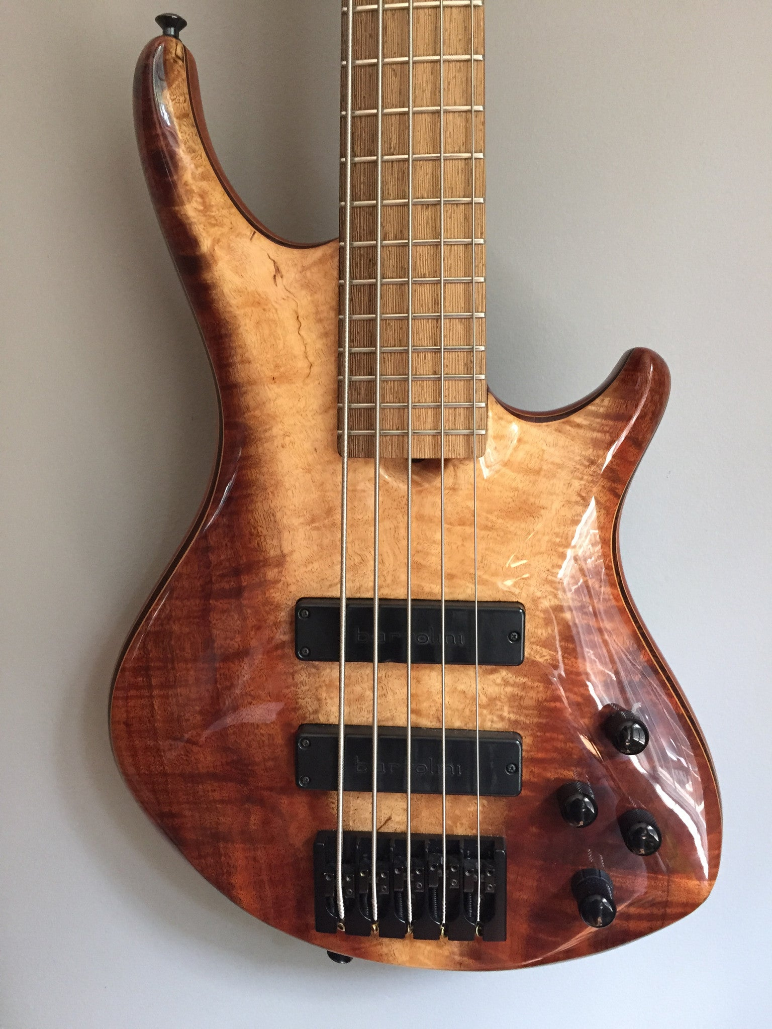 (SOLD) Roscoe SKB Signature 5-string Fretted Bass