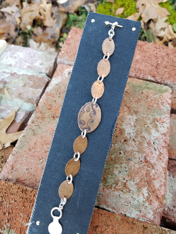 Seaside - Etched Copper Chain Bracelet
