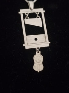 Guillotine Necklace. Sterling Silver.
