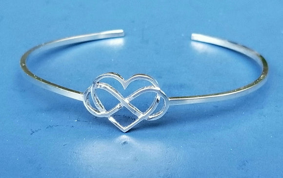 Infinite Love - Heart and Infinity Sterling silver Bracelet