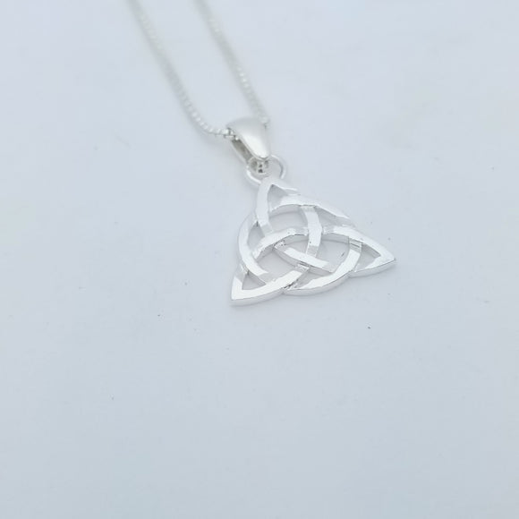 Triquetra Sterling Silver Necklace