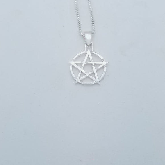 Sterling Silver Pentacle Necklace