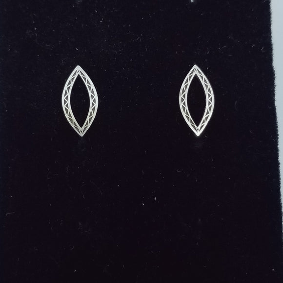Marquis Sterling Silver Post Earrings