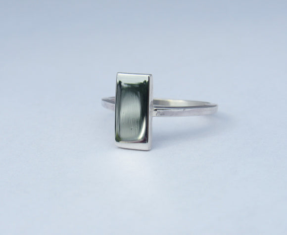 Sterling Silver Mirror Ring. Rectangle.