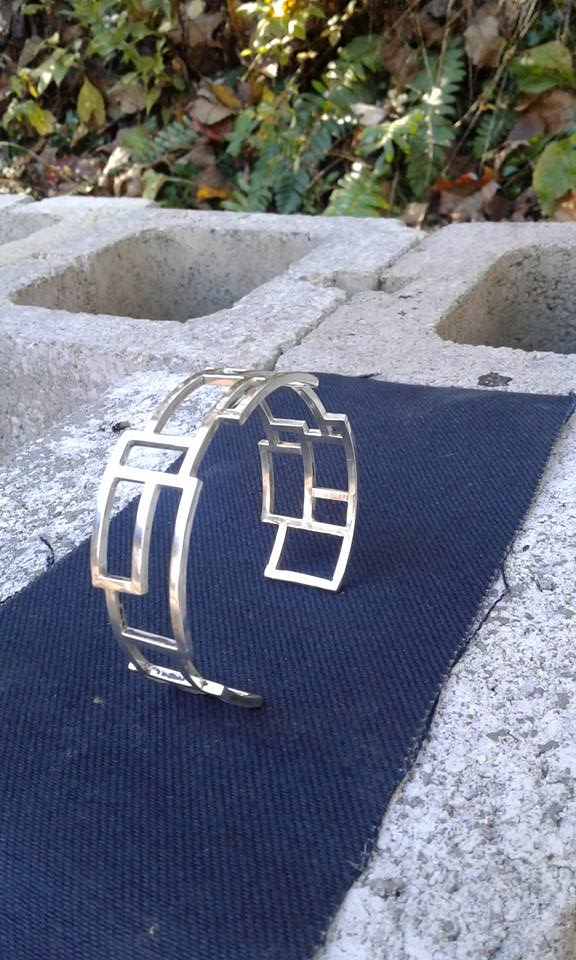 Abstraction - Sterling Silver Cuff Bracelet