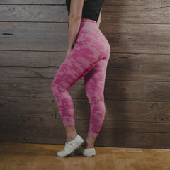 Woven Leggings - Pink Camo (Women's)