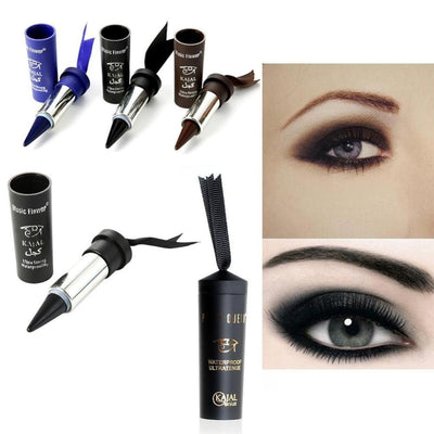 1 pc Women Smoky Eyes Pencil Thicker Thick Solid Bold Black Eyes Liner Pencil Gel Eyeliner