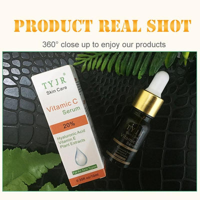 100% Pure Vitamin C Serum Liquid Freckle Removal Acne Scar Hyaluronic Acid Anti wrinkle Vc Face Serum Oil Fade Dark Spot Essence