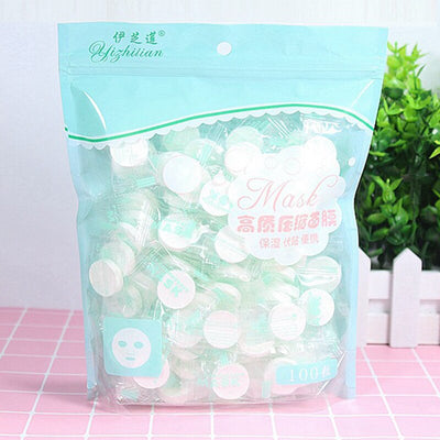 100PCS/Set Disposable Wrapped Masks Women Girls mascara facial Cotton Compressed Mask Sheets Tablets for DIY Skin Care