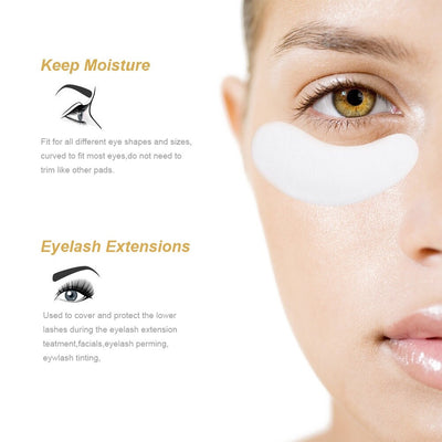 100pairs/pack Hydrating Eye Tip Stickers Wraps Eye Care Pad New Paper Patches Under Eye Pads Lash Under Eye Gel Patches