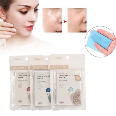 100pcs Face Oil Blotting Paper Grapefruit Matting Face Wipes Facial Cleanser Oil Control Shrink Pore Face Cleaning Tool