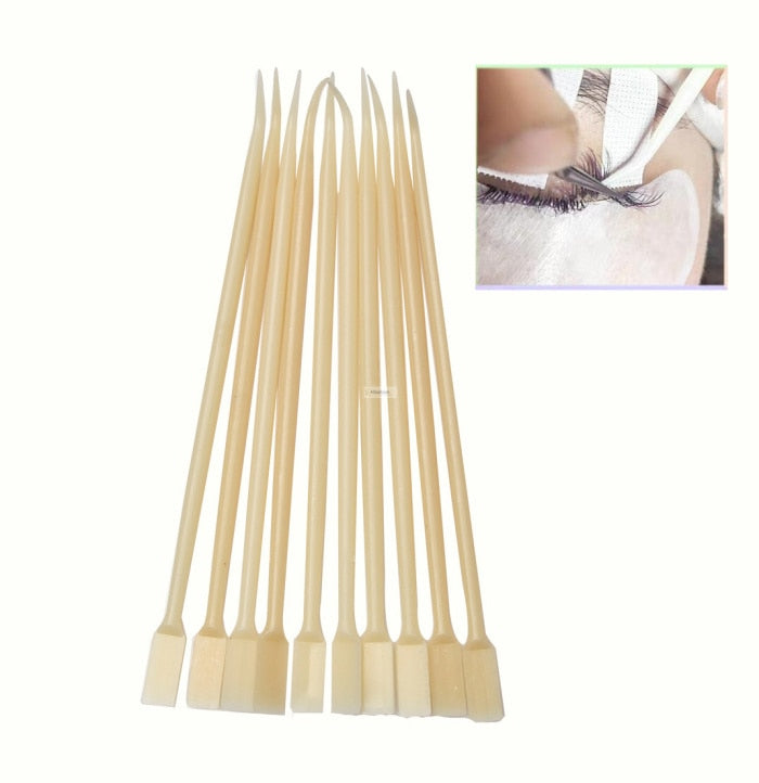 10pcs eyelash pick stick eyelashes Perm Pad rod Recycle Shield Lifting Curler Makeup tools Accessories Applicator