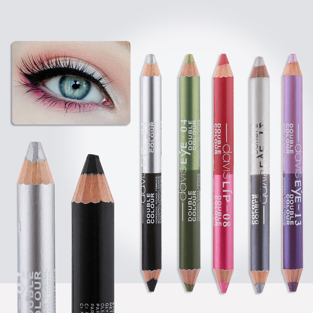 1Pc 12 Colors Highlighter Glitter Eyeshadow Eyeliner Pen Makeup Durable Waterproof Sweatproof Double ended Eyes Pencil Makeup