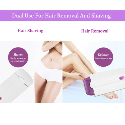 Professional Painless Hair Removal Kit Laser Touch Epilator USB Rechargeable Women Body Face Leg Bikini Hand Shaver Hair Remover