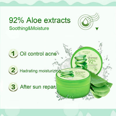 220g Aloe Vera Gel Natural Whitening Face Cream Soothing Moisturizer Lotion Cream Acne Treatment Gel Skin Care