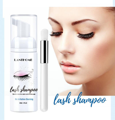 50ml Eyelash Cleaner Foam Shampoo Pump Press Design Eyelash Cleaner Foam Cleaner Eyelash Extension Eye Cleansing Cosmetics