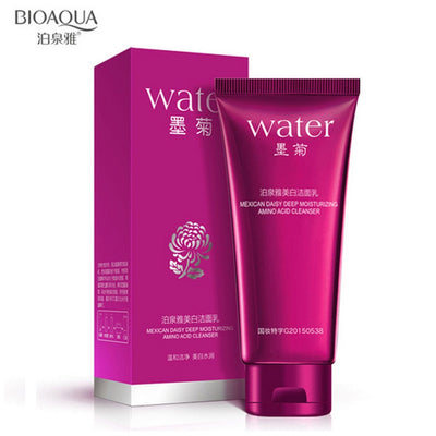 BIOAQUA Mexican Daisy Moisturizing Amino Acid Cleanser Deep Cleansing Oils Blackhead Remover Facial Cleanser Whitening Skin Care
