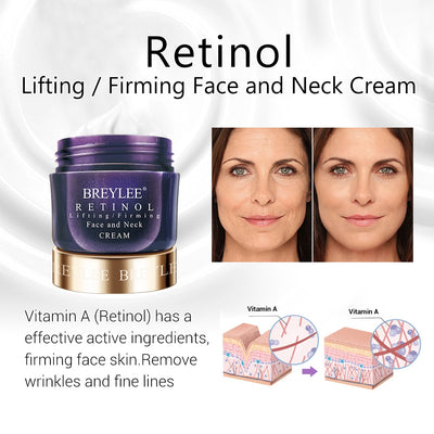 BREYLEE Face Cream Hyaluronic Acid Moisturizing Day Cream Retinol Anti Wrinkle Vitamin C Whitening Skin Care Acne Treatment 40g