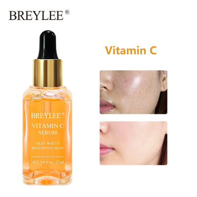 BREYLEE Face Serum Vitamin C Whitening Facial Serum Remove Dark Spots Melanin Anti Aging Wrinkles Moisturizing Essence Skin Care