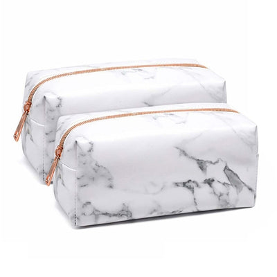 Beauty Pattern Cosmetic Make Up Brushes Bag Portable Brushes Holder Marble Case Brush Bag Zipper Cosmetic Bag Makeup Tool