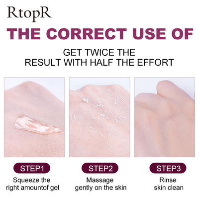 Deep Cleansing Exfoliating Peeling Gel Moisturizes Face Exfoliating Cream Soft Organic Facial Cream Facial Scrub Cleaner