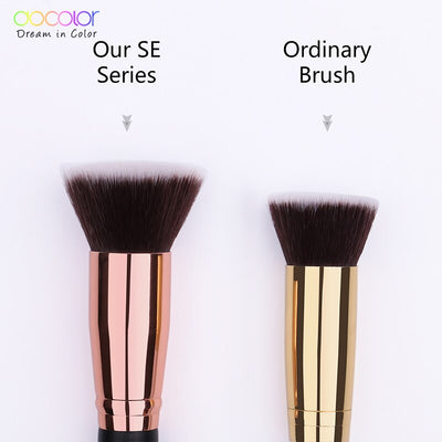 Docolor 1PC Flat Foundation Brush Flat Top Buffing Kabuki Brush Face Makeup Brush Powder Foundation Blush Bronzer Cosmetics Tool
