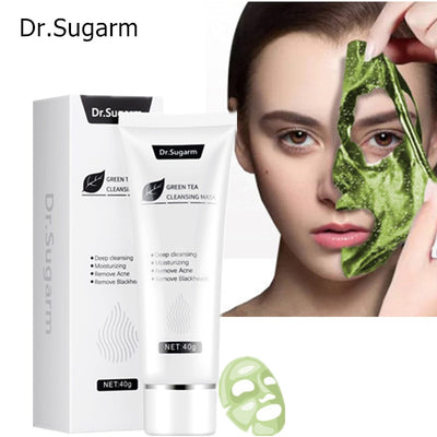 Dr.Sugarm Blackhead Mask Moisturizing Green Tea Deep Cleansing Pore Strip Remove Acne Nose Black Mask