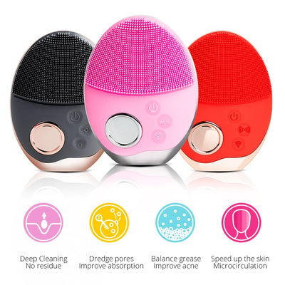 Facial Cleansing Brush Ultrasonic Face Cleansing Brush Elactric Wireless facial brush Skin Face Massager